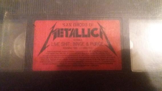 vhs metallica live stuff binge and purge free shipping