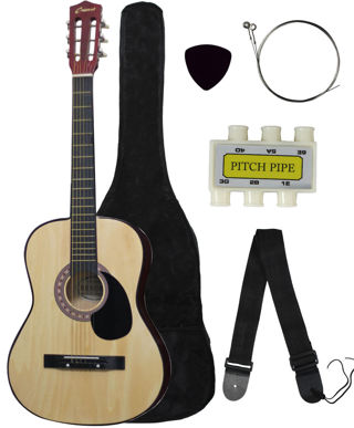 LAST ONE FREE!! Brand New!! Acoustic Guitar +GIGBAG+STRAP+TUNER+LESSON  low gin!