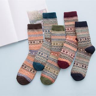 Fashion Men's Retro Geometric Long Socks Novelty Men National