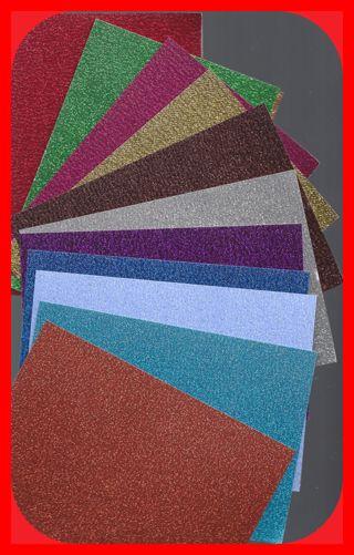 GLITTER Heavy Card Stock 12 Colors 36 pcs