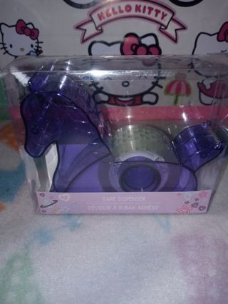 ❤✨❤✨❤BRAND NEW KAWAII PURPLE UNICORN TAPE DISPENSER WITH A ROLL OF CLEAR TAPE INSIDE❤✨❤✨❤ONLY 1!