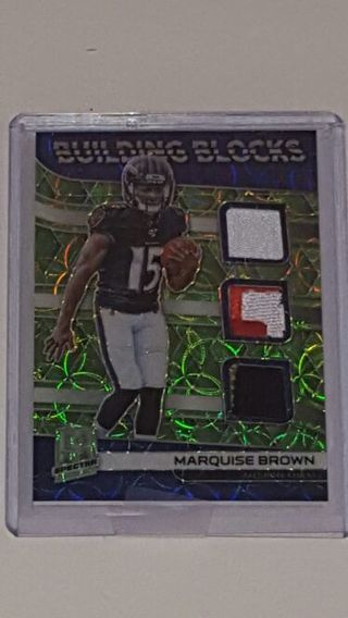 Marquise Brown triple Jersey RC panini spectra green 2019 #/25 BV at $30