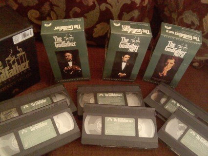 THE GODFATHER COLLECTION VHS