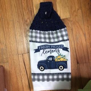 Hand Crocheted Stove Towel. #01