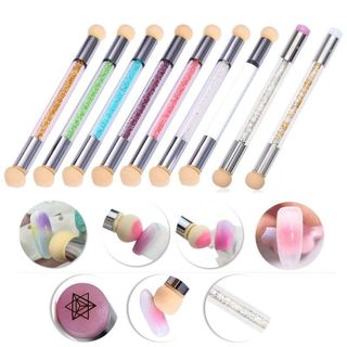 Dual-ended UV Gel Painting Nail Gradient Brush Nail Art Sponge Pen Manicure Tool