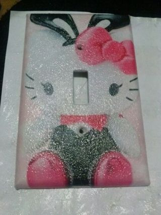 Hello Kitty Playboy BunnyTheme Light Switch Cover Home Decor Gift