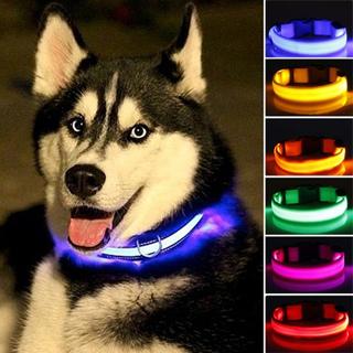2017 New LED Nylon Pet Dog Collar Night Safety Glow Flashing Dog Cat Collar Led Luminous Small Dogs
