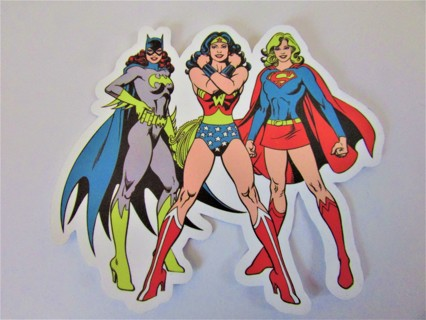WONDER WOMAN- SUPERGIRL- BATGIRL Vinyl Sticker- Helmet/Car/Skateboard/Business/Crafts