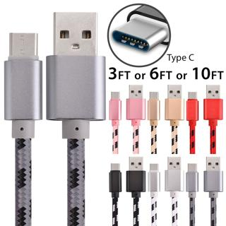 10 FT Braided Type C Fast Charging Cable USB-C Rapid Cord Power Charger Charge~~