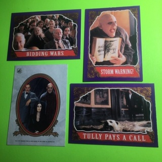 4 Addams Family 1991 movie cards!