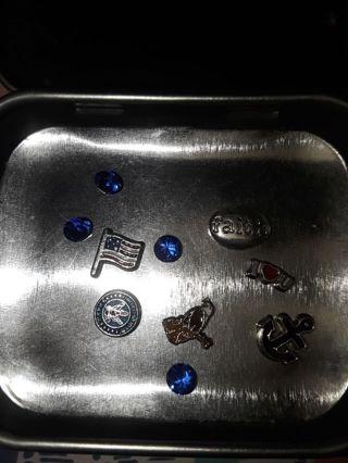 Lot of NAVY living memory locket charms military USA flag anchor emblem eagle
