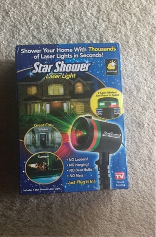 free star shower christmas lights free shipping