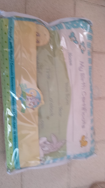 Free Brand New Birth Certificate Pillow Looney Tunes