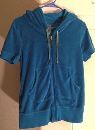 1 NIKE Zip Up Top Sweatshirt Short Sleeve Hoodie Top FREE SHIPPING