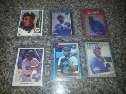 Free 6 Ken Griffey Jr Rookie Baseball Cards Sports