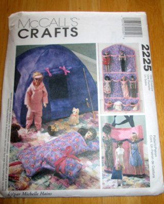 Free: McCalls 2225 Pattern Barbie Doll Accessories~tent, sleeping ...