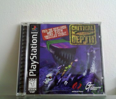Critical Depth- PS1 Collectable Condition BN Game Disc