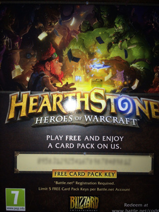 Free: HearthStone Card Code - Video Game Prepaid Cards & Codes