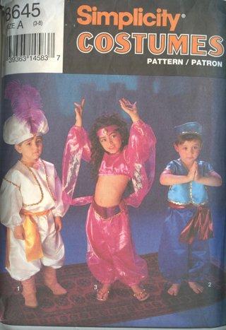 Free: Simplicity Boy & Girl Costume Pattern #8645 ~ Aladdin Genie ...