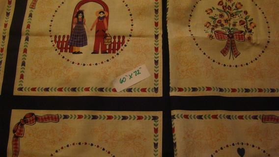 vintage cotton cheater quilt