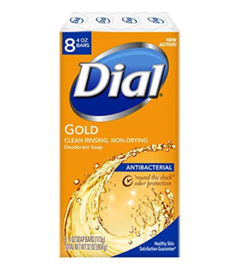 50% DISCOUNT!! Dial Antibacterial Bar Soap, Gold, 4 Ounce (Pack of 8) Bars