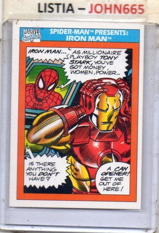 Iron Man and Spider-man - 1990 Marvel Cards #150 ... Mint .... Free S/H
