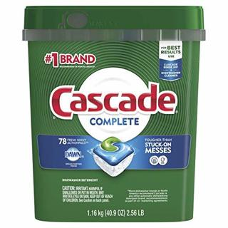 Cascade Complete ActionPacs Dishwasher Detergent, Fresh Scent, 2 Pack (78 Actionpacs Each)
