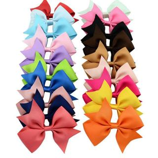 4'' Bow Baby Girls Hair Bow Clip Hairpins Grosgrain Ribbon Boutique
