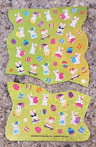 EASTER SPARKLE STICKERS 2 SHEETS  LOT 2