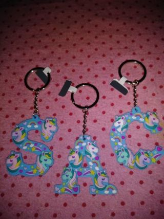 """❤✨❤✨❤1 BRAND NEW BLUE KAWAII """"UNICORN"""" SILICONE INITIAL KEYCHAIN❤✨❤✨❤(3 TO CHOOSE FROM!)"""