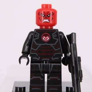 New Red Skull Minifigure Building Toy Custom Lego