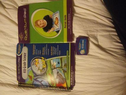 Quantum Leap 4th Grade Science Book , Parent Guide & Cartridge