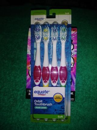 ❤✨❤✨❤BRAND NEW 4 PACK OF ORBIT MULTI-LEVEL SOFT TOOTHBRUSHES❤✨❤✨❤