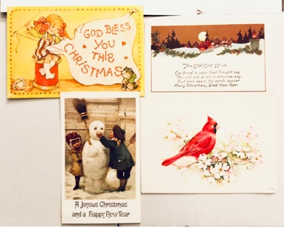 Set of 4 vintage postcards approx 4x6""