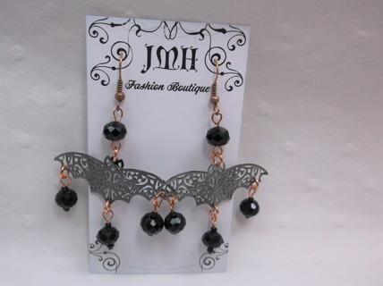 Halloween Bat Earrings