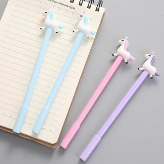 3pcs/lot 0.38mm Black Ink Unicorn Kawaii for School Supplies Gel Pen Writing Supplies Stationery
