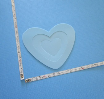 """SET of 3 """"HEART"""" STENCILS (NEW) !!! ~ FREE SHIPPING !!!"""