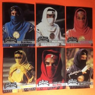 6 Power Rangers 1995 Ninja Cards!