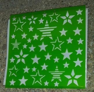 4 TH OF JULY  STARS PLASTIC  STENCILS