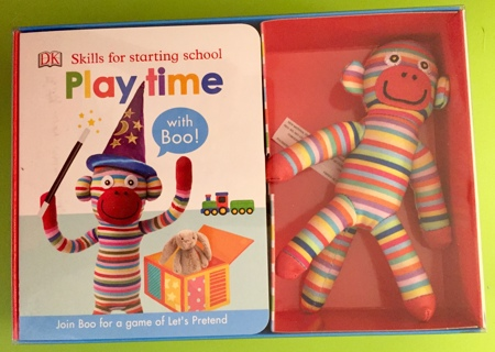 New Skills For Starting School Playtime Book & Boo The Monkey