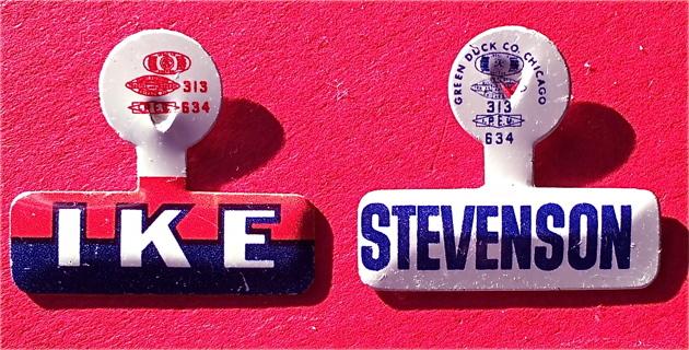 1952 General Dwight David Eisenhower IKE Adlai Stevenson President political campaign election tab