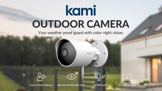 ❣⭐KAMI SMART OUTDOOR SECURITY CAMERA,1080p 2.4G HOME CAMERA ❣⭐