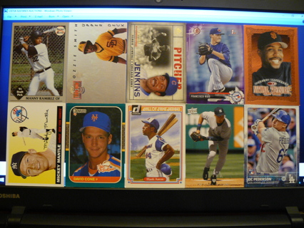 (10) Baseball Cards Stars, HOFers, Serial #'d or Inserts - LOT 16 - Read Details
