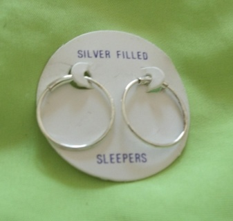 Free Last Pair Brand New On Card Silver Filled