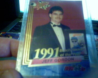 Free Jeff Gordon Rookie Card 1991 Busch Rookie Of The Year