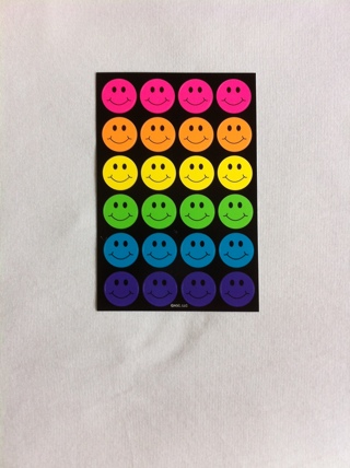 Colorful Smiley Face Stickers