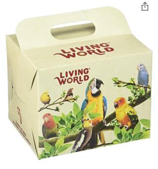 50% OFF! Living World Bird Carrier Cardboard Box