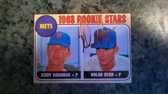 Free Nolan Ryan 1968 Topps Rookie Card Reprint With Gold
