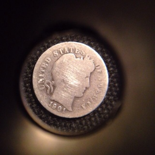 Barber Dime 1901 – 117  Years old