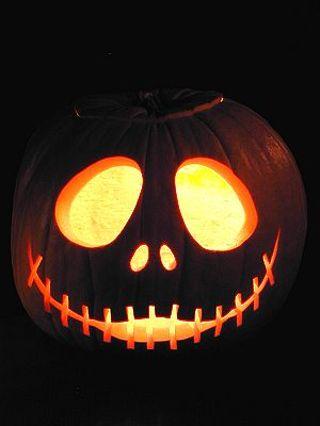 free halloween jack skellington nightmare before christmas pumpkin carving pattern